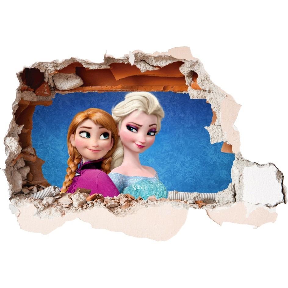 Aparador Moderno Branco ~ Adesivo 123 Decorativo Parede Buraco 3d Mod 95 Elsa Frozen