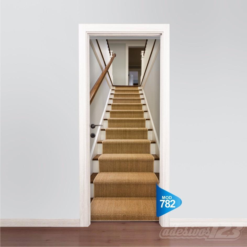 Adesivo De Madeira ~ Adesivo 123 Porta Escada De Madeira Mod 782 R$ 69,99 em Mercado Livre