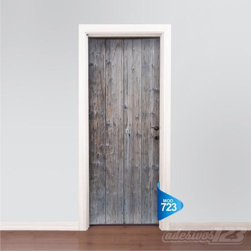 adesivo 123 porta madeira demolição antiga mod 723