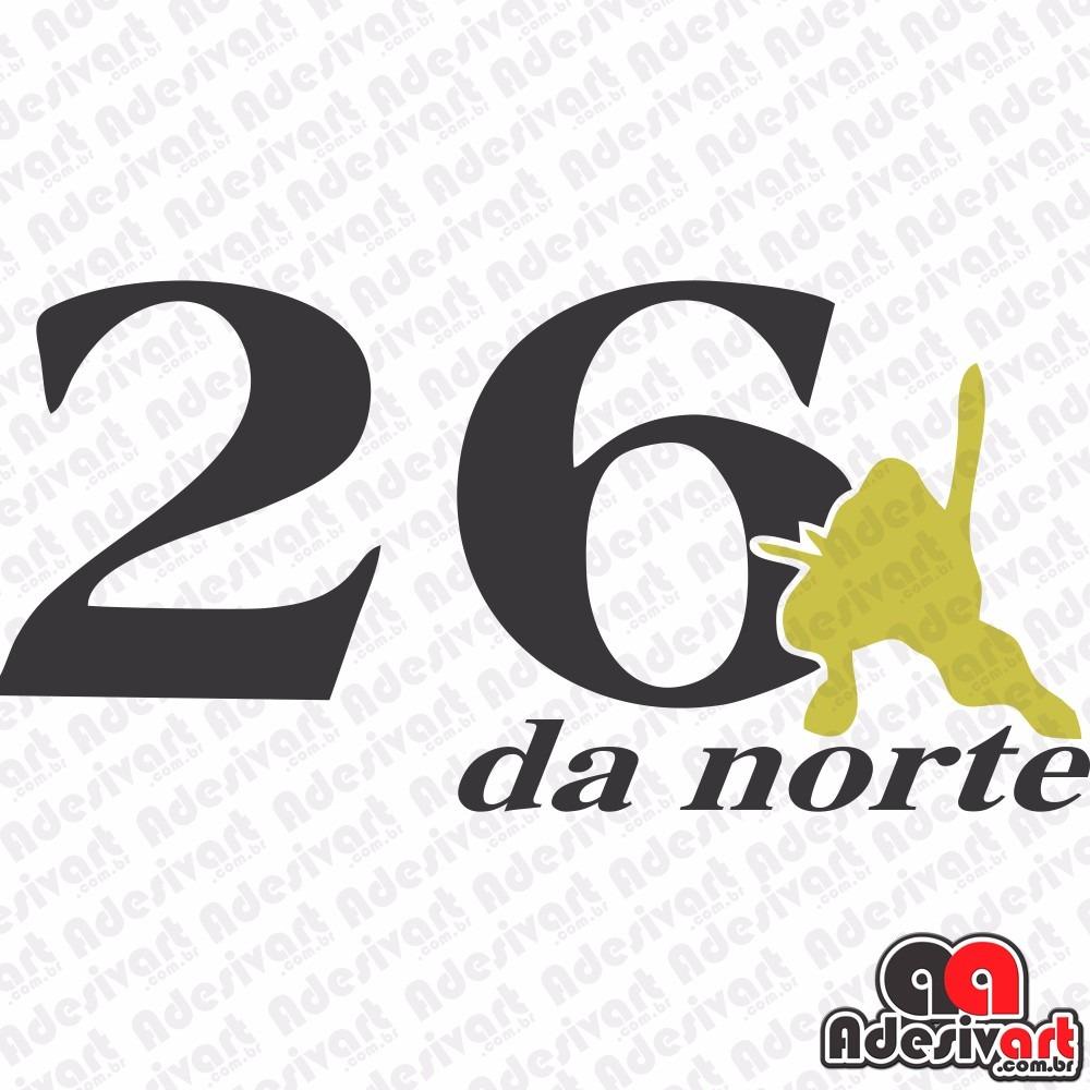 Artesanato Brasileiro Nos Estados Unidos ~ Adesivo 26 Da Norte Moto Carro 2 Cores 14x7cm Wheeling Grau R$ 9,99 em Mercado Livre