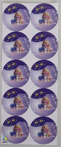 adesivo 4cm - barbie castelo (30 adesivos)