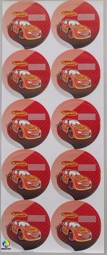 adesivo 4cm - carros pop (30 adesivos)