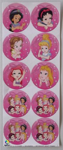 adesivo 4cm - princesas baby (30 adesivos)