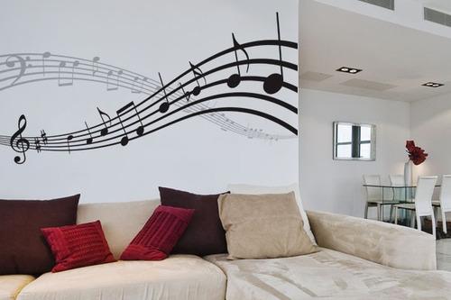 adesivo a nota musical - mudo minha casa