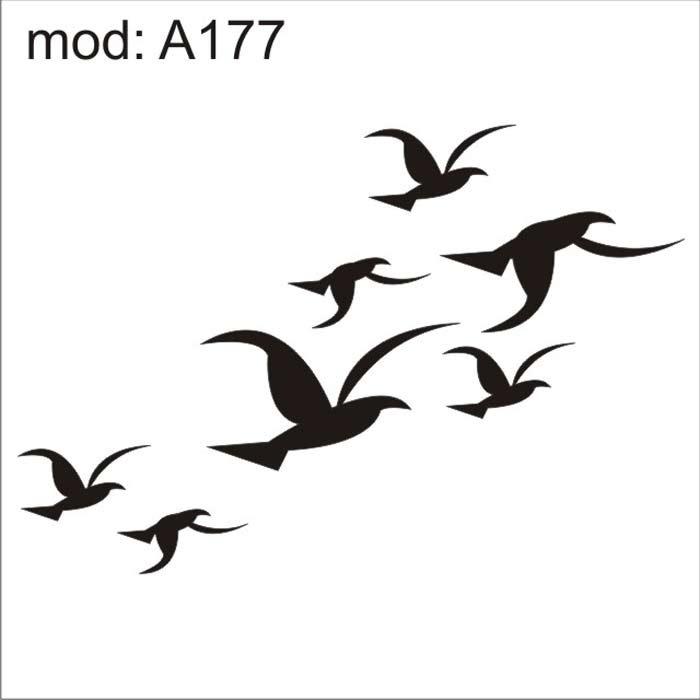 Adesivo A177 Passaros Aguias Gaivotas Andorinhas Voando R 87 26