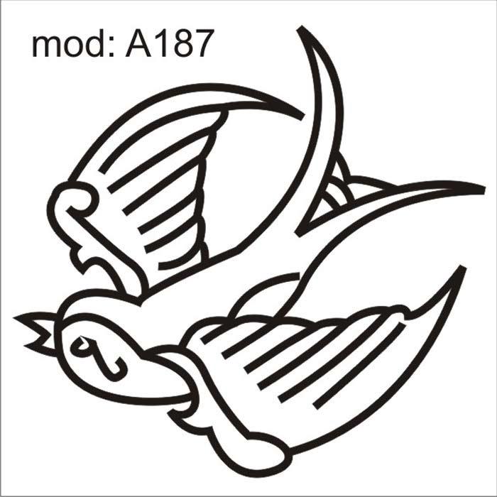 Adesivo A187 Desenho Abstrato De Um Passaro Passarinhos Voar R