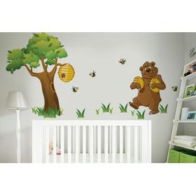 Adesivo Abelinhas E O Urso - Mudo Minha Casa