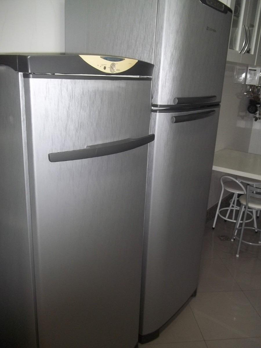 Aparador Sala De Jantar ~ Adesivo Aço Escovado Inox Geladeira Moveis 1,00 X 4,00m R$ 90,00 em Mercado Livre