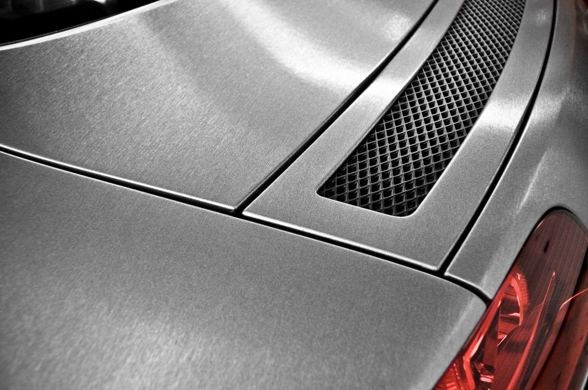 Artesanato Lembrancinhas De Aniversario ~ Adesivo Aço Escovado Prata Envelopamento Automotivo 1m X 1m R$ 29,90 em Mercado Livre