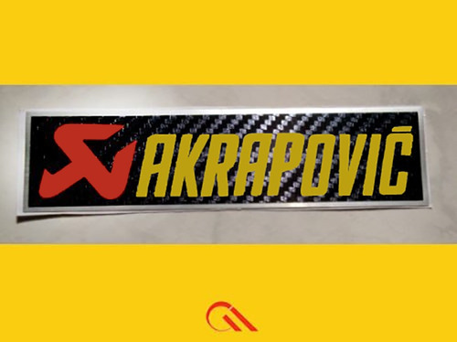 adesivo  akrapovic para o  escapamento de sua moto