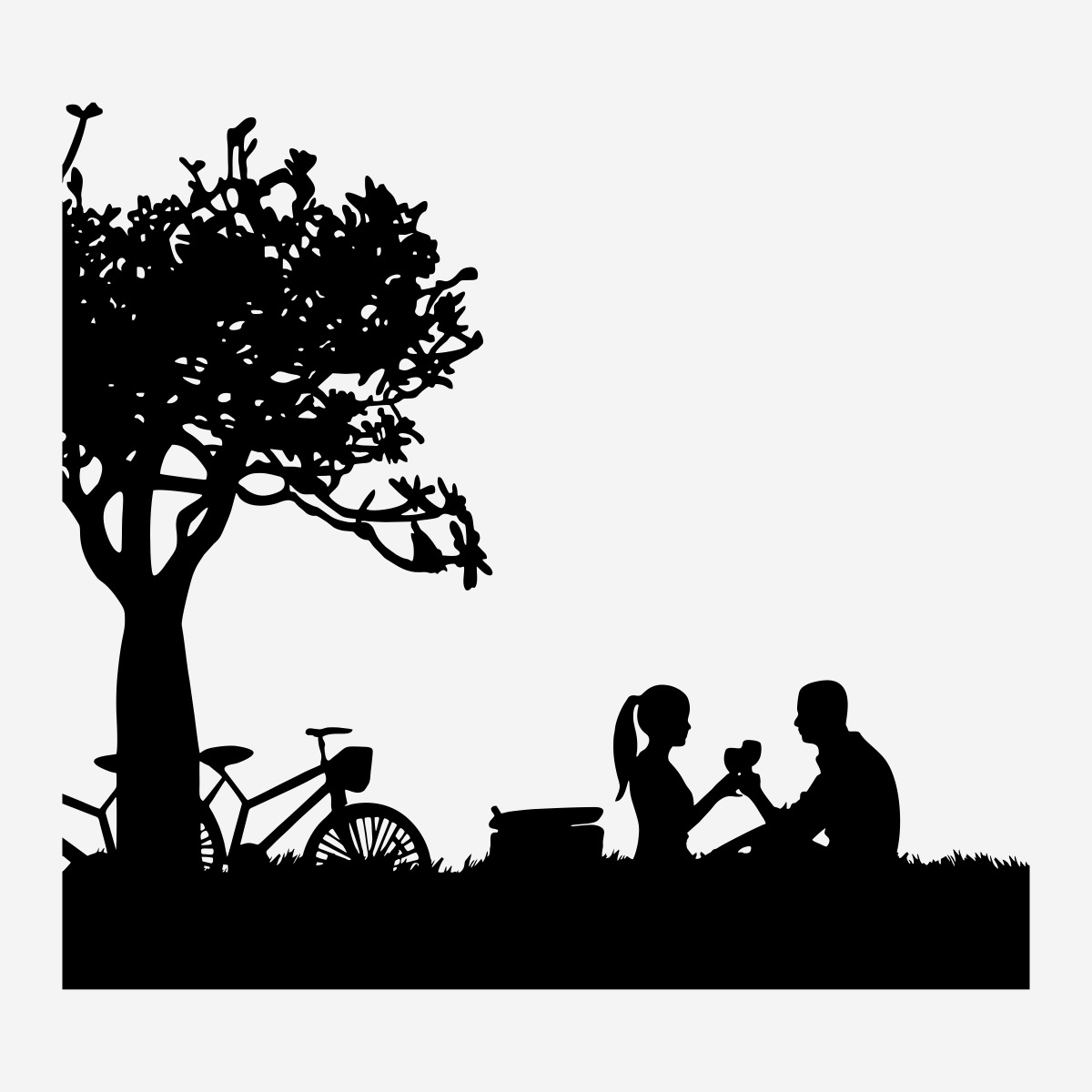 Adesivo Amor Noivinhos Casal Apaixonado Natureza 40cm A254 R 25