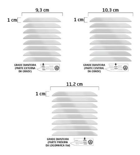 adesivo aplique cromado grade tcross t-cross