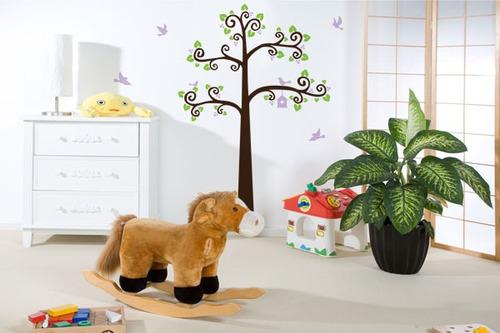 adesivo árvore com pássaros - mudo minha casa