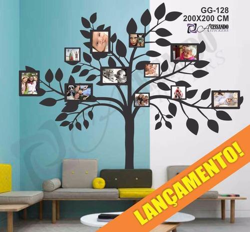 adesivo arvore moderna porta retrato fotos exclusivo 2x2 m