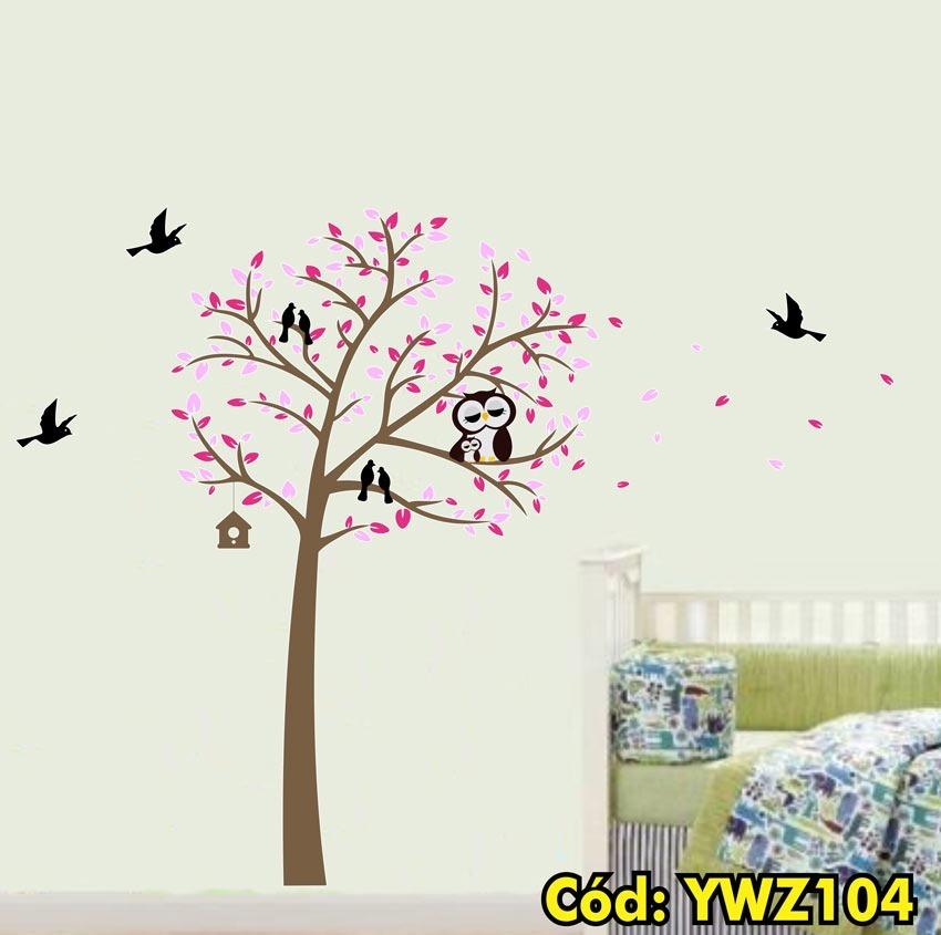 5de1f4ecb adesivo árvore quarto infantil coruja pássaros folhas ywz104. Carregando  zoom.