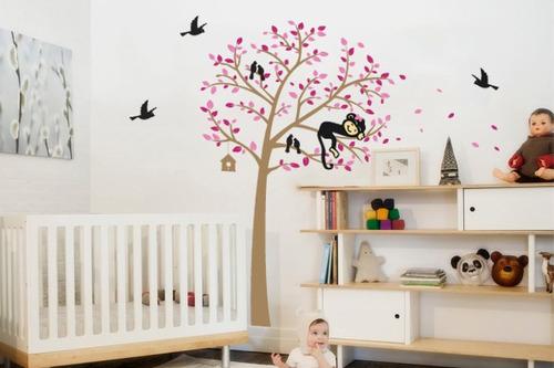 adesivo árvore rosa - mudo minha casa