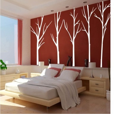 Adesivo arvores grandes decorar paredes florais tam for Decorar paredes grandes