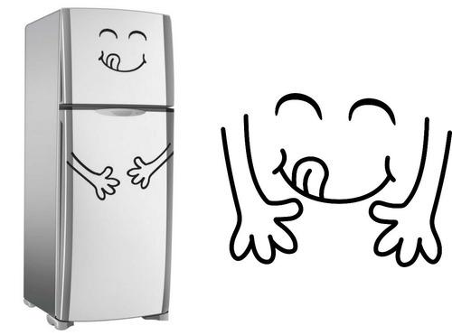 adesivo avestruz, cozinha, geladeira, parede, armário, vaca
