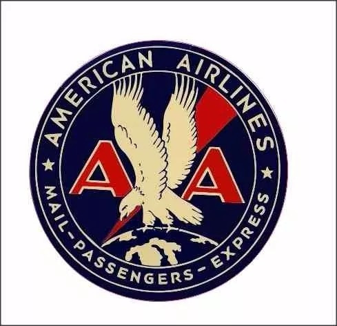 adesivo aviação american air lines mail passengers