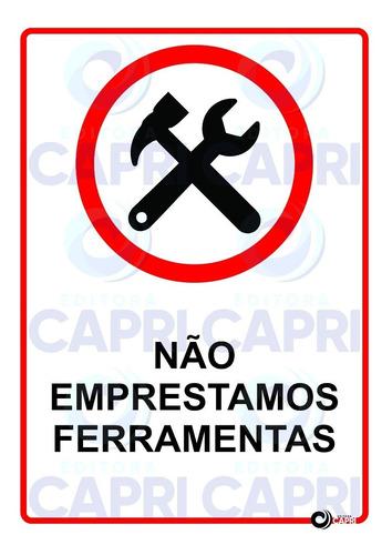adesivo aviso não emprestamos ferramentas para mecânico