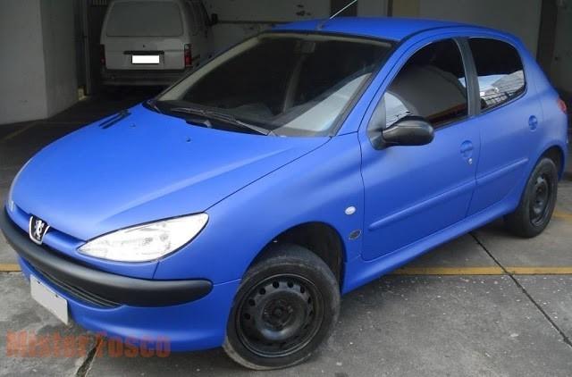 Aparador Blanco Madera Maciza ~ Adesivo Azul Médio Fosco Envelopamento Automotivo 50x122cm