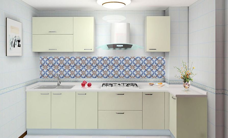 Adesivo Azulejo Decorativo  Cozinha  Banheiro  Cód 010  R$ 19,98 em Merca # Adesivo Para Azulejo De Cozinha Pode Molhar
