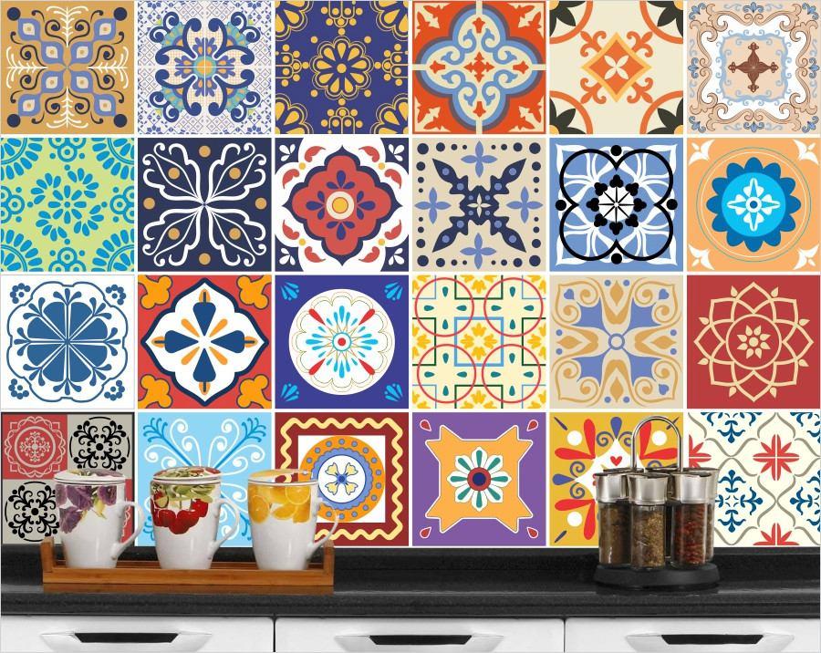 Adesivo azulejo hidr ulico cozinha e box de banheiro for Azulejo 15x15