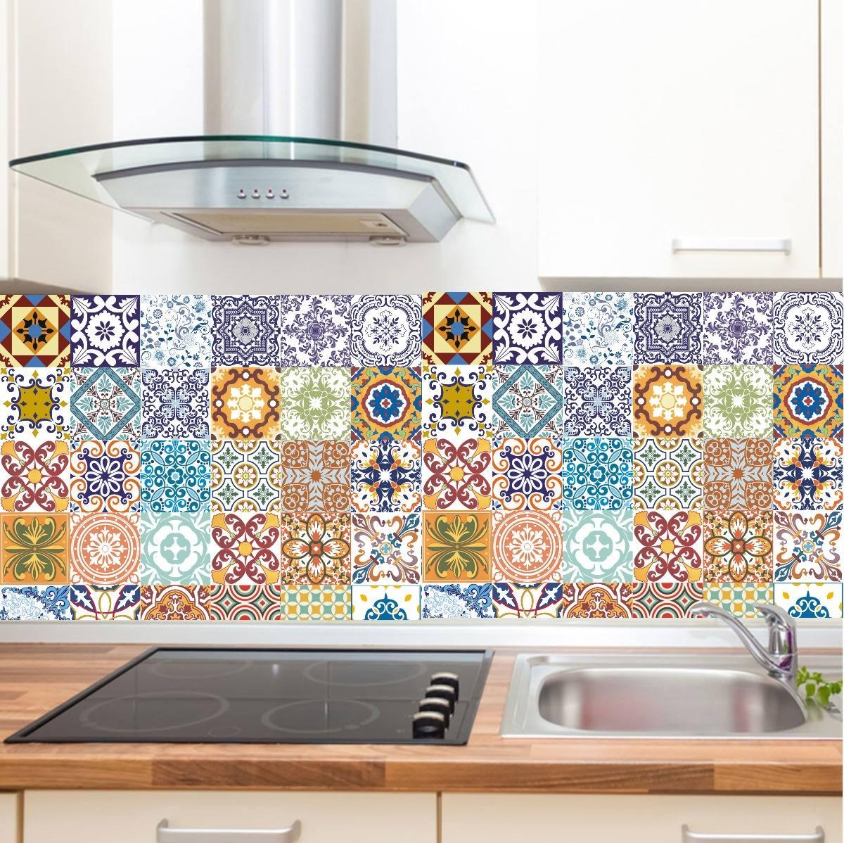 Aparador Kd Moveis ~ Adesivo Azulejo Ladrílho Hidráulico Retro Cozinha R$ 24