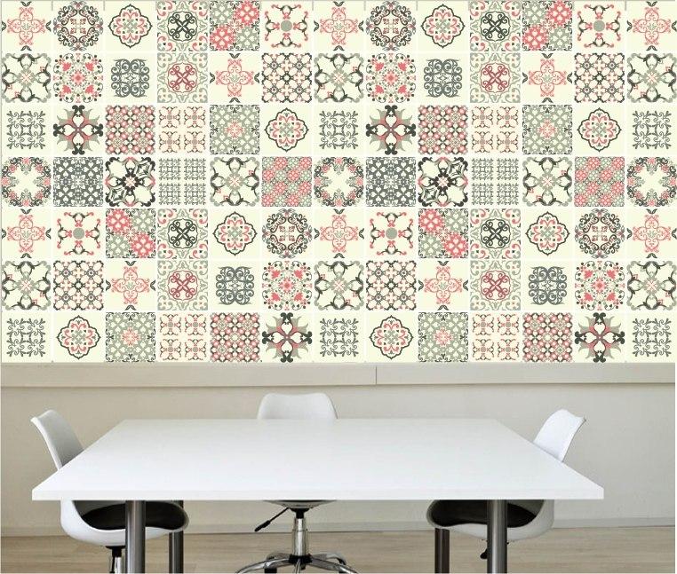 Adesivo azulejo papel de parede decorativo cozinha m02 r 119 00 em mercado livre - Papel decorativo para paredes ...