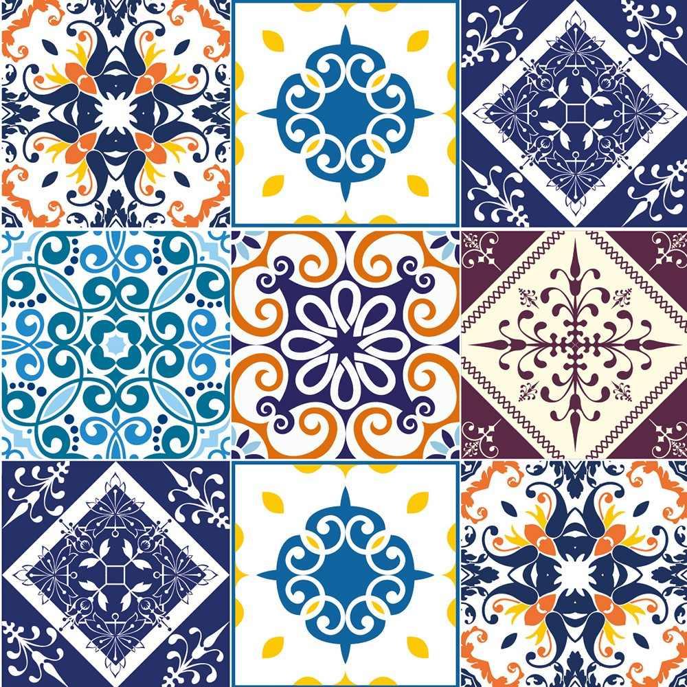 Adesivo azulejo portugu s r 40 00 em mercado livre - Azulejos para mosaicos ...