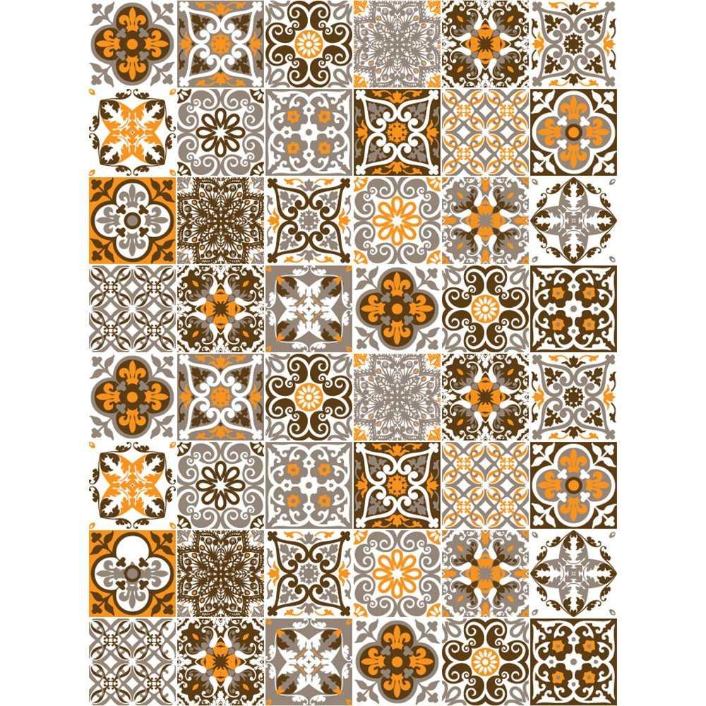 Adesivo azulejo portugu s r 40 00 em mercado livre - Papel para azulejos de bano ...