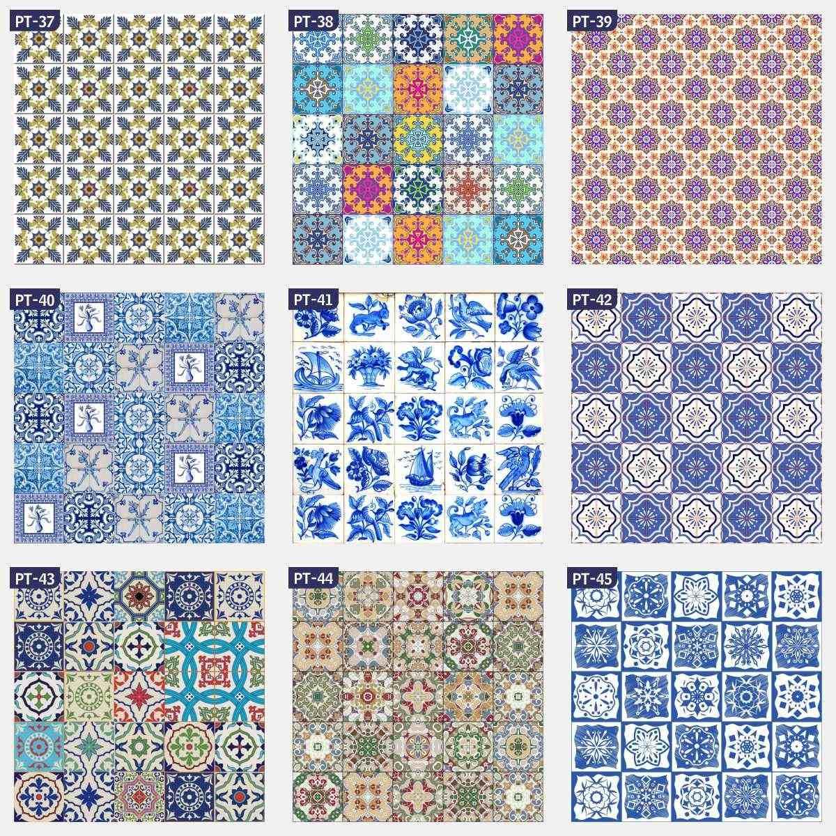 Adesivo azulejo portugu s cozinha ladrilho 1 00x1 00m pt for Comprar azulejos sueltos