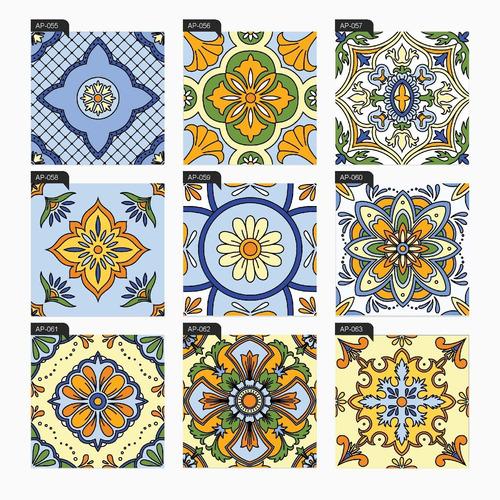 adesivo azulejo português ladrilho hidráulico 36 unid. 15x15