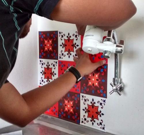adesivo azulejo português ladrilho hidráulico lindos modelos
