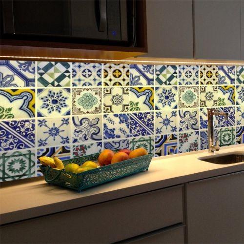 adesivo azulejo português porto p 24un. - (15cmx15cm)