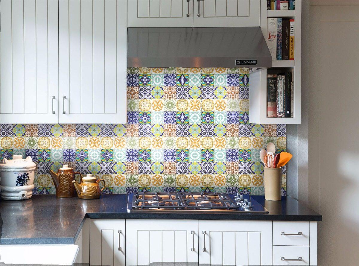 Artesanato Indigena Comprar ~ Adesivo Azulejos Cozinha Banheiro Promoç u00e3o Az01 + Brinde R$ 19,99 em Mercado Livre