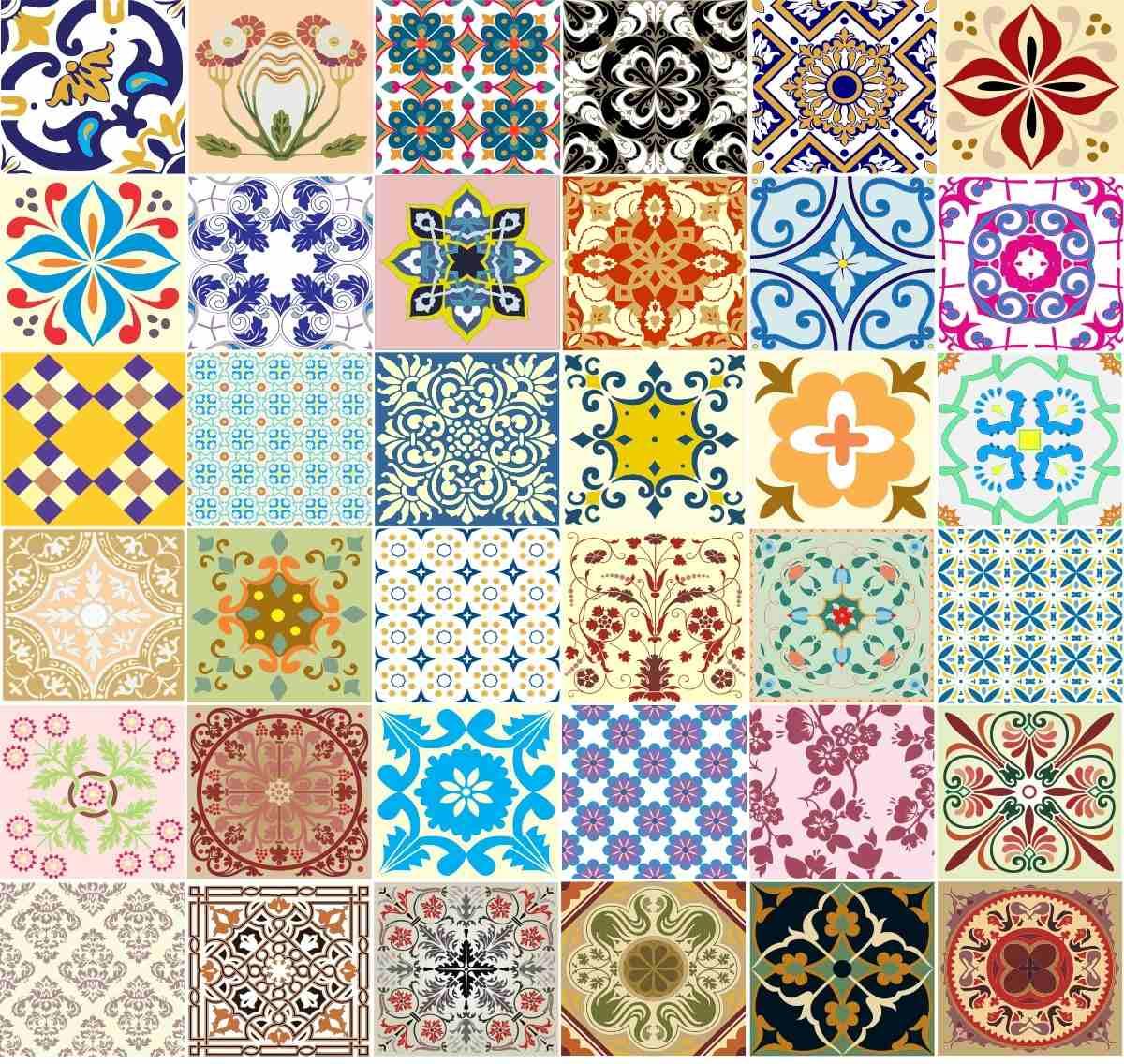 Adesivo Azulejos Decorativos 36 Unidades Frete Grátis R$ 69 89 em  #BF960C 1200x1136 Adesivos Hidraulicos Banheiro