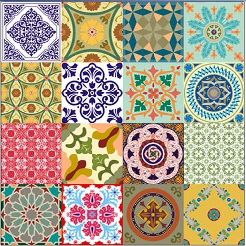 Adesivo azulejos ladrilhos portugu s contact vulcan r 65 99 em mercado livre - Azulejos 20x20 colores ...