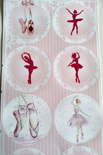 adesivo bailarina (30 adesivos)