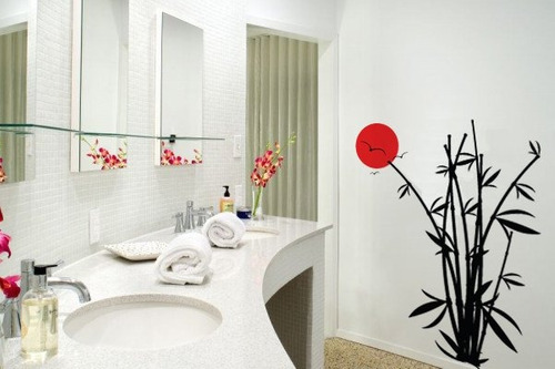 adesivo bambu oriental - mudo minha casa