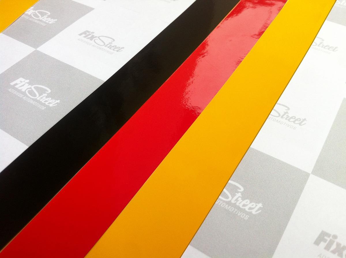 2fad797a5f Adesivo Bandeira Alemanha Para Grade - Kit Com 3 Tiras - R  11