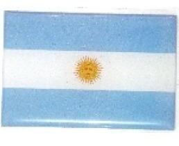 adesivo bandeira argentina resinado universal