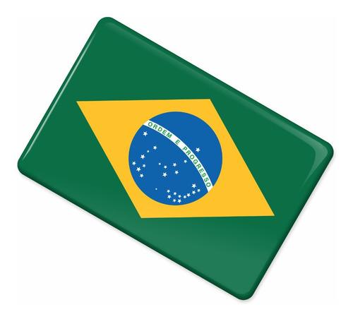 adesivo bandeira brasil carro moto capacete resinado bd1