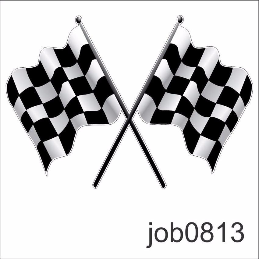 Racing Checkered Flag >> Adesivo Bandeira Fórmula 1 Carro Corrida Campeonato Job0813 - R$ 64,99 em Mercado Livre