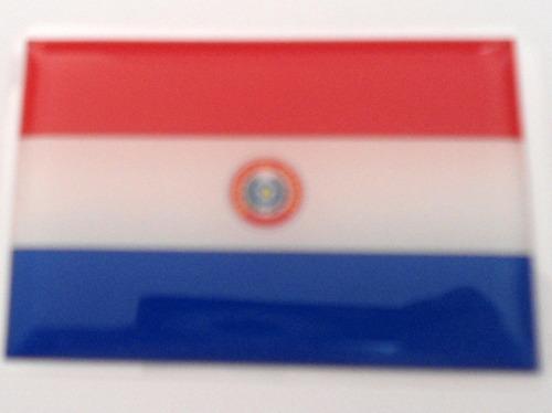 adesivo bandeira paraguai resinado universal
