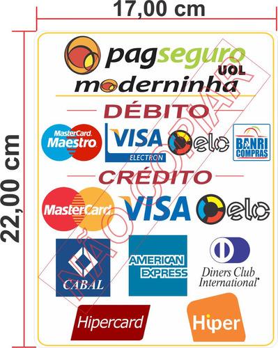 Artesanato Indigena Comprar ~ Adesivo Bandeiras De Cart u00e3o De Credito Moderninha Uol R