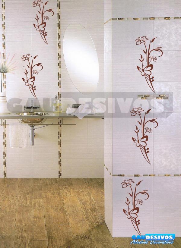 Adesivo azulejo decorativo cozinha banheiro parede box for Azulejos decorativos