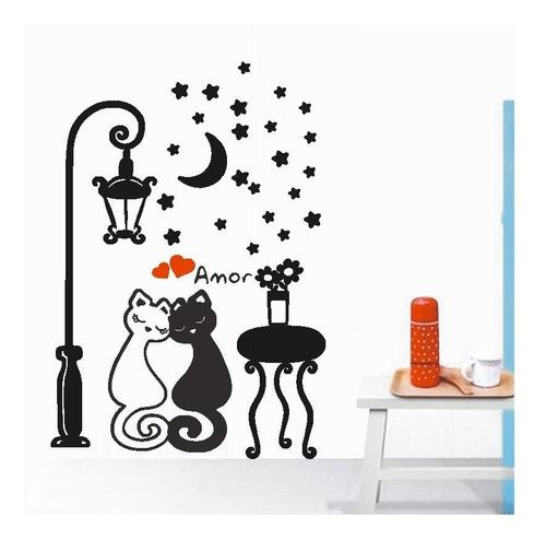 adesivo banho tosa gato vet petshop amor lua poste