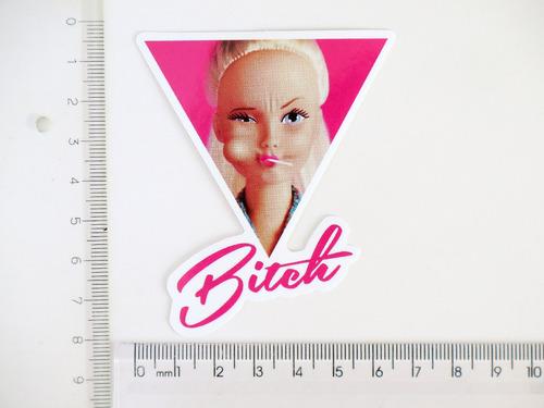 adesivo barbie bitch sakate rock punk rosa pirulito lollipop
