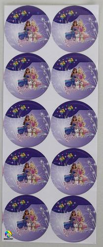 adesivo barbie castelo (30 adesivos)